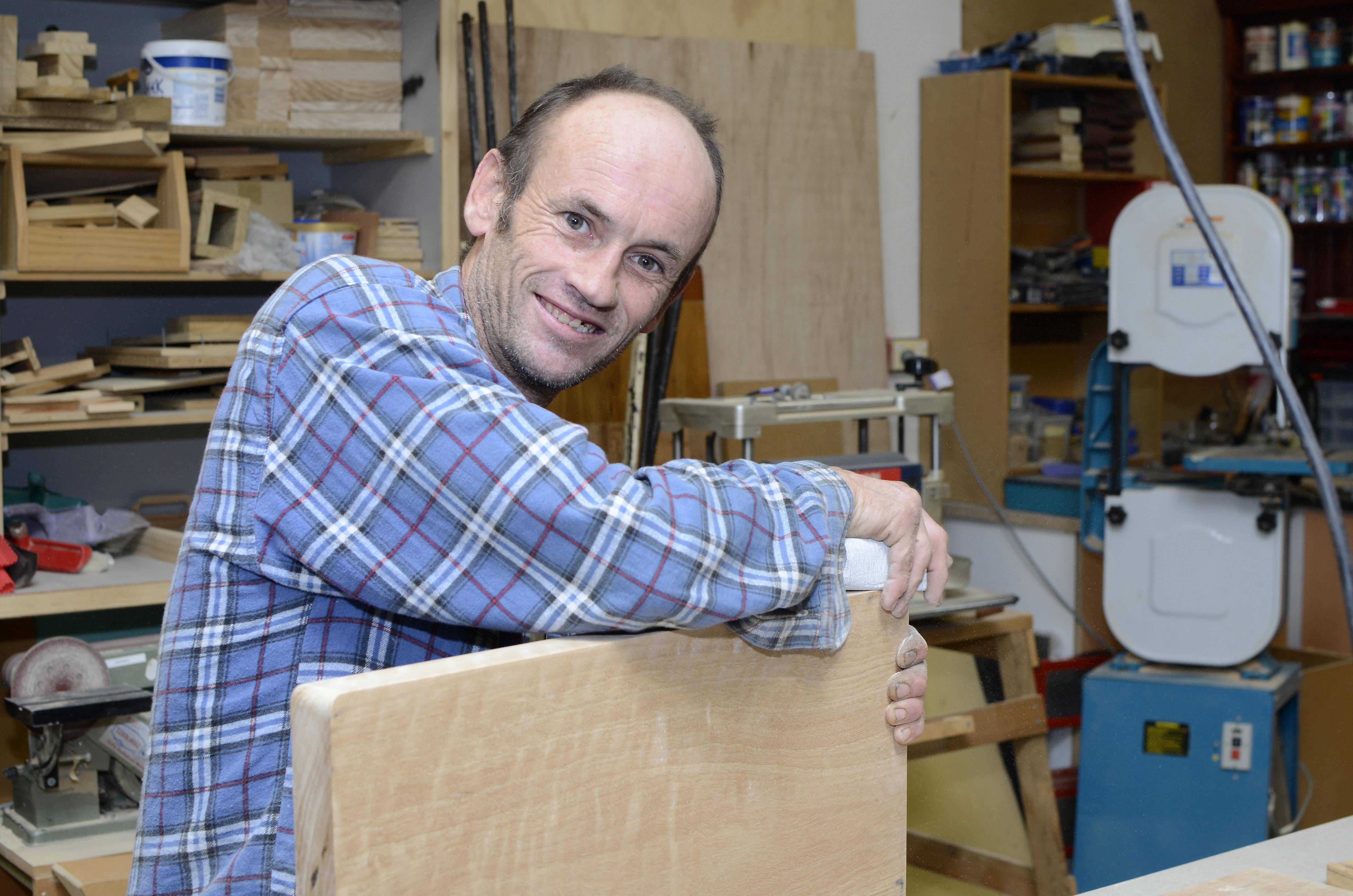 Brad a keen woodworker